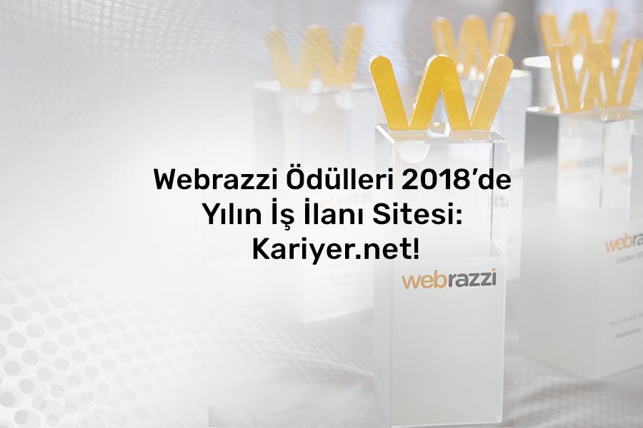 """Kariyer.net'e Webrazzi 2018'de """"Yılın İş İlanı Sitesi"""" ödülü"""